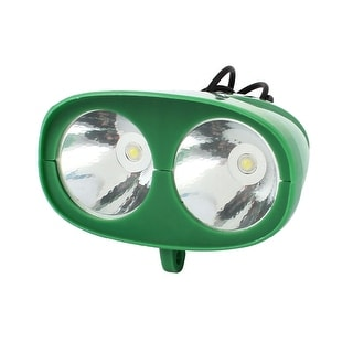 Unique Bargains Electric Bicycle Green Plastic Casing White 2 LED Fog Light Head Driving Lamp