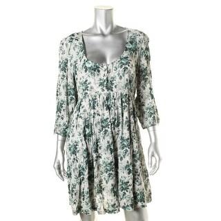 Denim & Supply Ralph Lauren Womens Babydoll Dress Floral Print Fit & Flare