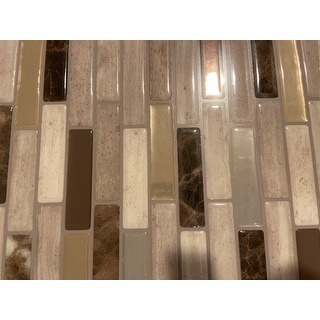 Milenza Genoa 10 20 In X 9 In Peel And Stick Self Adhesive Decorative Mosaic Wall Tile Backsplash 4 Pack Overstock 27438133