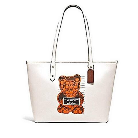 Coach Crossgrain Leather City Zip Tote Purse Bag Handbag F78203