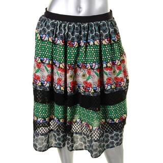 Disney Womens A-Line Skirt Printed Lace-Trim - S