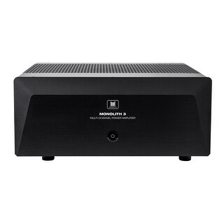 Monoprice Monolith 3x200 Watts Per Channel Multi-Channel Home Theater Power Amplifier with XLR Inputs
