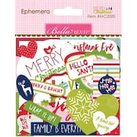 Bella Blvd Merry Christmas Cardstock Die-Cuts-Ephemera, Shapes, Tabs & Words