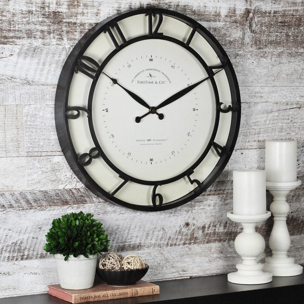 FirsTime & Co.® Kensington Wall Clock, American Crafted, Oil Rubbed Bronze, Plastic, 18 x 2 x 18 in - 18 x 2 x 18 in