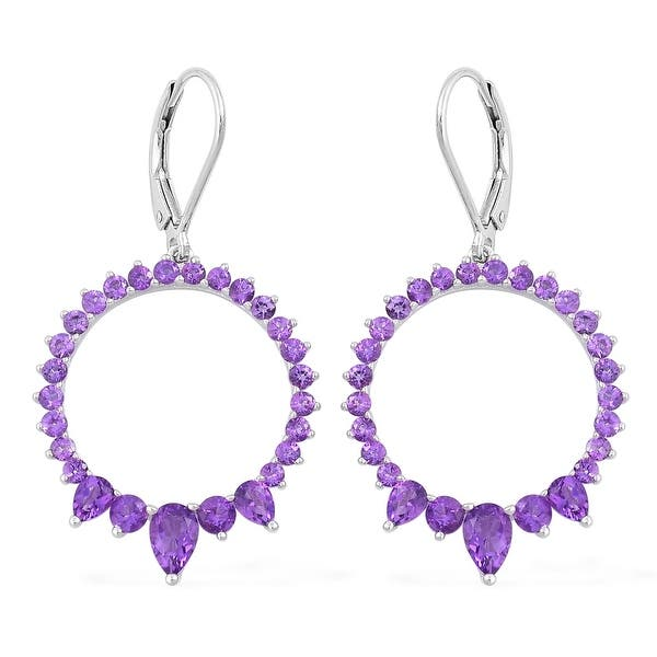 Details about  /RHODIUM PLATED 925 SILVER RING EARRING PENDANT SET AMETHYST SEMI PRECIOUS ST