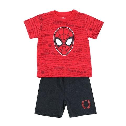 Marvel Toddler Boy's Spider-Man Top and Short Set