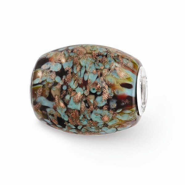 Sterling Silver Reflections Multi-color Glitter Desert Sunset Glass Bead