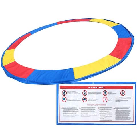 Colorful Safety Round Spring Pad Replacement Cover for 12' Trampoline - Multi