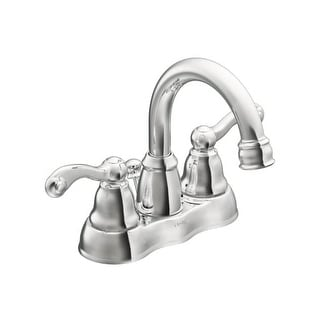 Moen WS84003 1.2 GPM Centerset Bathroom Faucet   Includes Metal Pop Up  Drain Assembly (