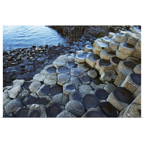 """""""Basalt Rock Formation, Giant's Causeway, County Antrim, Northern Ireland"""" Poster Print. Opens flyout."""
