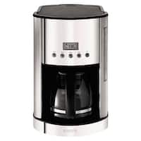 Krups KM730D50 12 Cup Programmable Coffee Maker  Stainless Steel