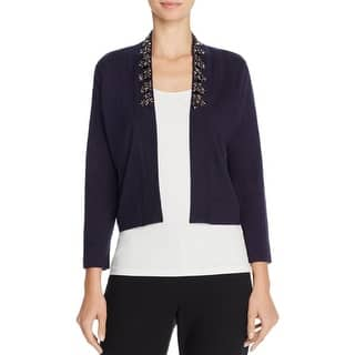 Magaschoni Womens Cardigan Top Silk Blend Embellished|https://ak1.ostkcdn.com/images/products/is/images/direct/2e918e656583eb77b7161e93b97a8c2adb74bb61/Magaschoni-Womens-Cardigan-Top-Silk-Cashmere.jpg?impolicy=medium
