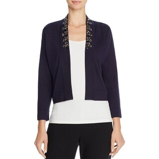 Magaschoni Womens Cardigan Top Silk Blend Embellished