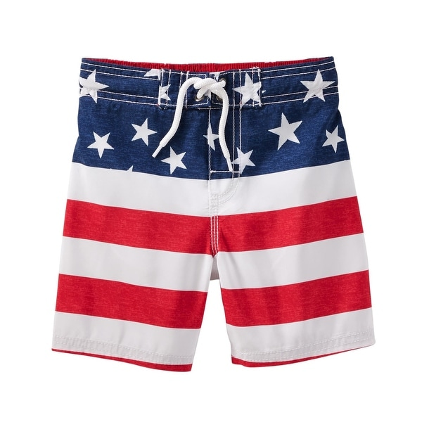 4798efbd1 Shop OshKosh B'gosh Little Boys' Americana Swim Trunks - Free Shipping On Orders  Over $45 - Overstock.com - 25586525