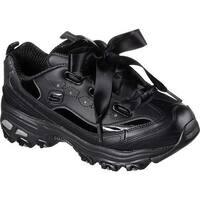 Skechers Women's D'Lites Latest Trend Sneaker Black/Black