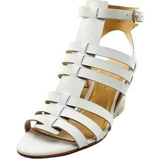 Enzo Angiolini Vanhi Open Toe Leather Wedge Sandal