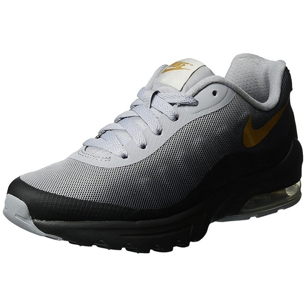 official photos a13bf f4aa4 NIKE WOMEN Air Max Invigor Print-Black Metallic Gold Wolf Grey Size 9.5
