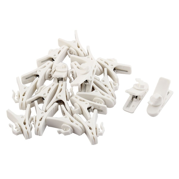 Mobile Phone Earphone Plastic Cable Wire Organizer Cord Clip White 20pcs