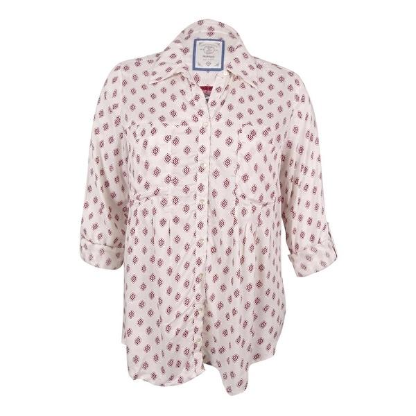 Style & Co Women's Plus Size Mixed-Print Shirt