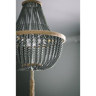 Safavieh Lighting 16.5-inch Lush Kristi 3-light Grey Beaded Pendant