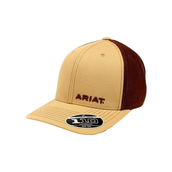 ... best price ariat western hat mens baseball cap snap mesh one size tan  44233 65763 c7eb23ddb010