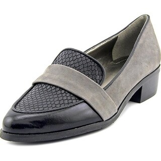 Tahari Lucille Women Pointed Toe Leather Gray Loafer