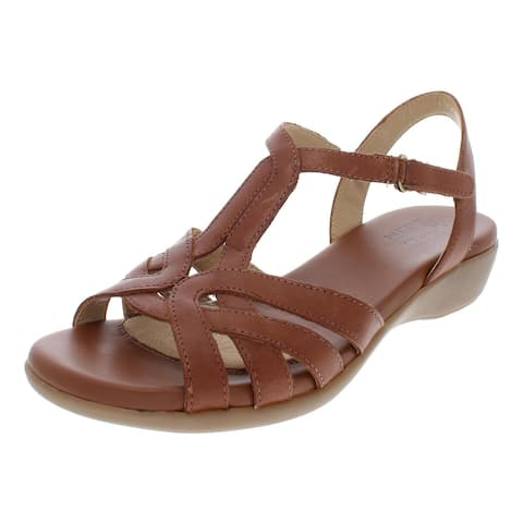 Naturalizer Womens Nella Wedges Leather Buckle