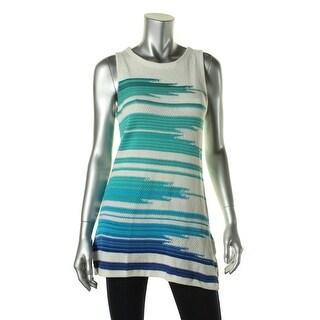 Lauren Ralph Lauren Womens Linen Blend Jewel Neck Tank Top Sweater - S