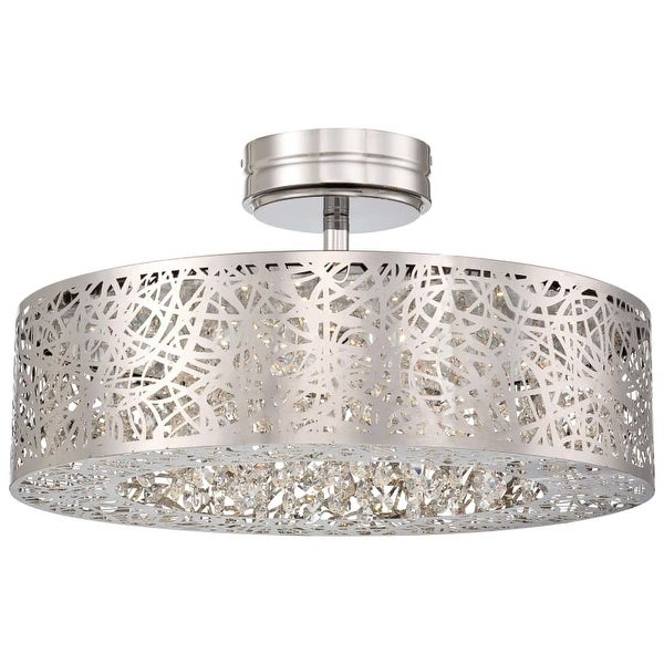 Kovacs P985-077-L 1 Light LED Semi-Flush Ceiling Fixture from the Hidden Gems Collection