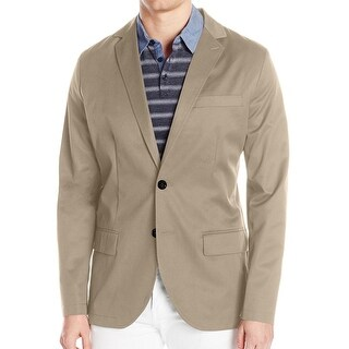 Nautica NEW Beige Mens Size Small S Twill Classic Two Button Blazer