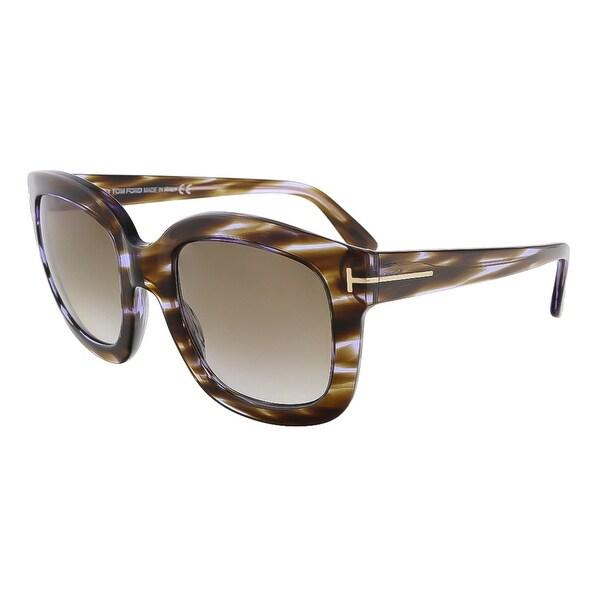 Tom Ford FT0279/S 47Z Christophe Purple Havana Square Sunglasses - 53-23-140