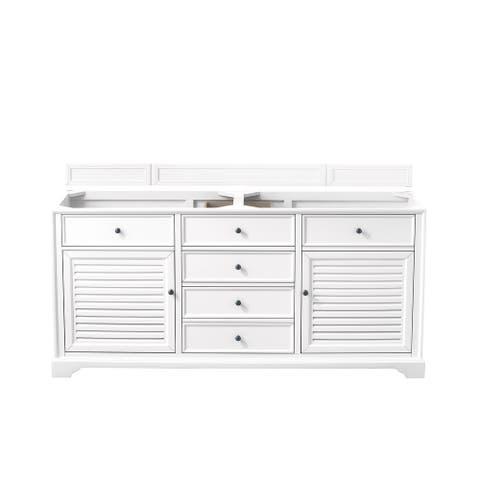 "Savannah 72"" Double Vanity Cabinet, Bright White"