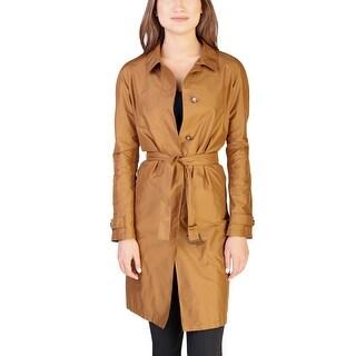 Prada Women's Polyester Trench Coat Copper