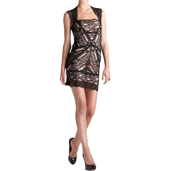 e46a9b69e8eda5 Shop Nicole Miller Womens Eva Cocktail Dress Lace Sleeveless - Free  Shipping Today - Overstock - 17655895