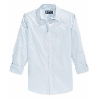 American Rag NEW Shaved Ice Blue Mens Size XS Button Down Cotton Shirt