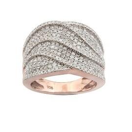 Attractive 1.29 Carat Round Brilliant Cut Real Natural Diamond Gigantic Ring