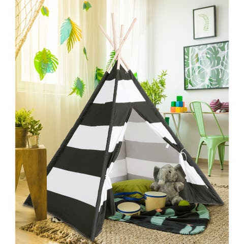 Gymax 5' Indian Play Tent Teepee Children Playhouse Sleeping Dome