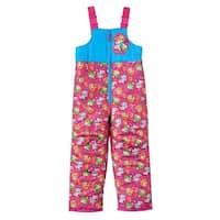 Shopkins Little Girls' Sneaky Wedge Kooky Cookie & Apple Blossom Snow Bib - Pink