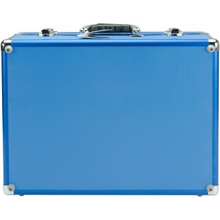 Copic Aluminum Case With Shoulder Strap-Blue