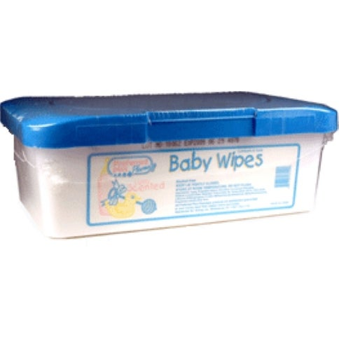 Baby Wipes Light Scent, Tub 80 ea