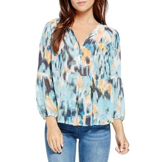 Two by Vince Camuto Womens Blouse Chiffon Ruched