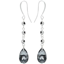 Swarovski Drop Earrings - Crystal Lt Chrome - Exclusive Beadaholique Jewelry Kit