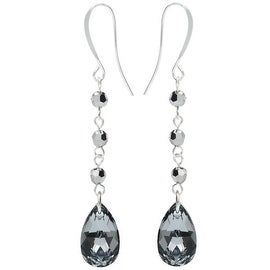 Swarovski Drop Earrings - Crystal Lt Chrome - Exclusive Beadaholique Jewelry Kit