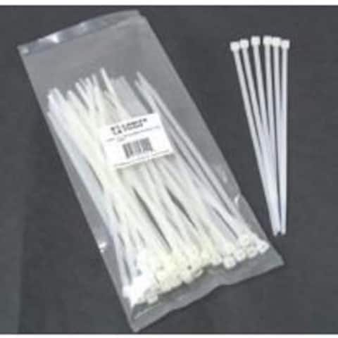 """7.5"""" Cable Ties 100 Pack White"""