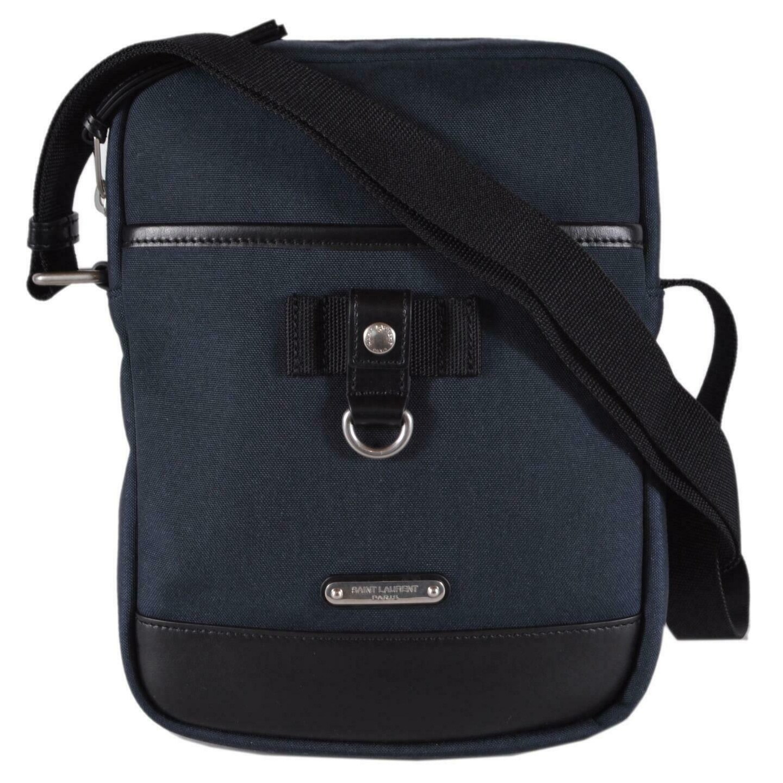 Saint Lau Ysl 482777 Blue Canvas Rivington Crossbody Sling Messenger Bag Dark