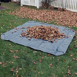 Sunnydaze 7-Foot Weather-Resistant Polyethylene Yard Tarp - Options