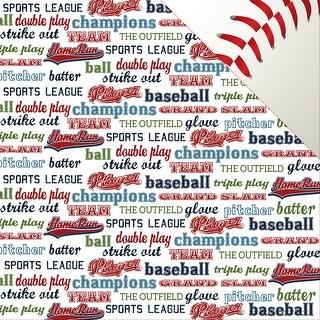 "Baseball Double-Sided Cardstock 12""X12""-Baseball Words"