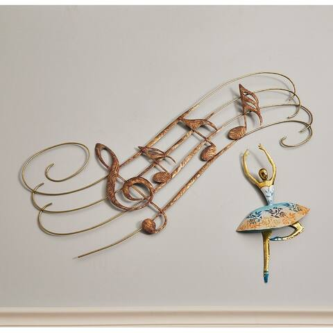 Handmade Large Musical Notes Wall Décor (Philippines) - 1 x 40 x 20