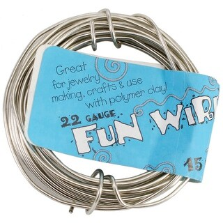 Icy Silver - Plastic Coated Fun Wire 22 Gauge 15'