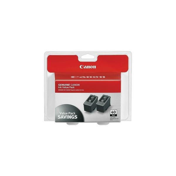 Canon PG-40 B Ink Cartridge - Black Canon PG-40 Twin Pack Black Ink Cartridge - Inkjet - Black